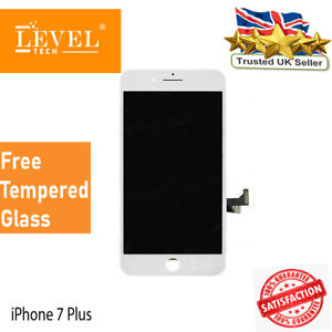 LCD Apple iPhone 7 Plus White OEM Quality Replacement Lcd Screen + Genuine IC