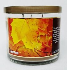 1 Bath & Body Works LEAVES Large 3-Wick Scented Candle 14.5 oz