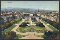 Zagreb 1922 Postkarte 100% gebraucht mit 2 Briefmarken