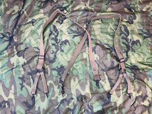 WW2 USMC Field Suspenders Khaki Canvas WWII - P41 M1941