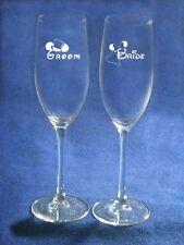Mickey Minnie Mouse Disney Wedding Glasses engraved personalized