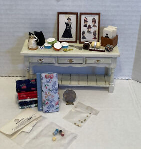 Vintage Artisan sewing Notions Al C & Others Dollhouse Miniature 1:12