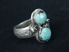 """ANTIQUE POST MEDIEVAL SILVER RING WITH NICE STONES 1800 AD  """"TC432"""
