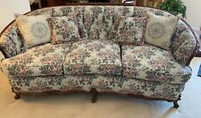 Antique Walnut Carved Sofa and Chair