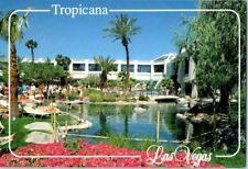 Tropicana Las Vegas Strip Hotel Casino Swimming pool view 1990 Vintage postcard