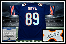 MIKE DITKA autographed signed BEARS navy jersey Beckett coa