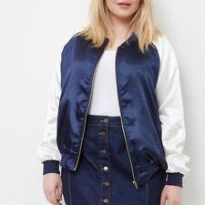Women Casual Long Sleeve Bomber Jacket Zip Loose Baseball Coat Outwear Plus US18