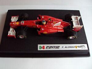 Ferrari F2012 Fernando Alonso GP.dell'India  con pilotino 1:43 Hot Wheels