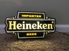 Vintage Heineken Imported Beer Light Bar Sign Wall Mount Or Counter - Man Cave