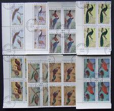Vietnam - 1988-Birds, 8 st.in block of 4, VO - 014a
