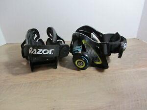 Razor Jetts Heel Wheels Heelys Adjustable Strap Onto Shoes Skates used