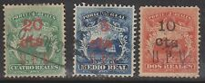 (OI-36) 1882 Costa Rica 3set surcharges UPU &values