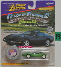 JOHNNY LIGHTNING 1995 CORVETTE STINGRAY ZR-1 WHITE LIGHTNING GREEN W+