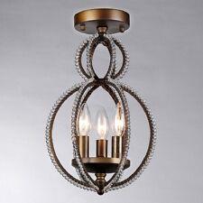 Flush Mount Ceiling Light Chandelier Bronze Crystal NEW RL7976