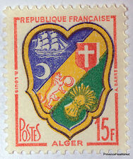 Yt 1232 BLASON D ALGER    TIMBRE NEUF **  LUXE FRANCE  SANS CHARNIERE