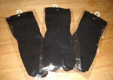 3 Pairs Black Japanese Flip Flop Tabi Split Toe Rift Socks BNIP