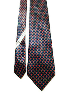 Valentino cravatta vintage blu  fantasia 100% seta made Italy