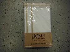 Home Decorators Collection Embroidered King Sham, Craft Brown (E5)