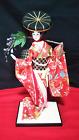 "Vintage Japanese Geisha doll in Kimono 19"" 48cm on wooden base Antique"