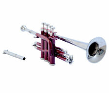 Pro Piccolo Trumpet Maroon Bb/A Pitch Approved by Professionals with Hard case
