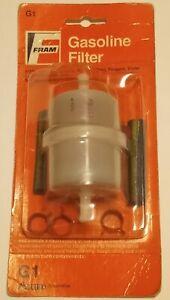 "Fram G1 1/4"" Plastic Inline Gas Fuel Filter - GKI GF68PL Wix 33031 Napa 3031"