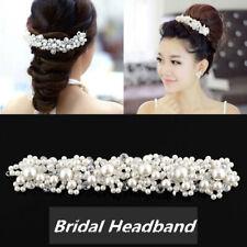 f35e27e0 Princess Wedding Bridal Prom Party Pearl Crystal Flower Tiara Hair Band  Headband