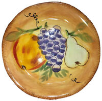 Tabletops Unlimited Boulevard Hand Painted Dinner Plate