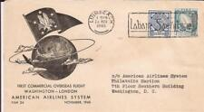 IRELAND-1st flight cover ever (11/24/45) to American Airlines Philatelic Section
