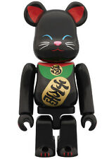 Medicom Skytree Manekineko Lucky Cat Neko 100% Bearbrick Be@rbrick Black 1pc