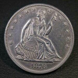 1876 Seated Liberty Half Dollar UNC