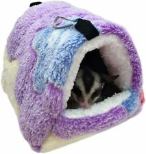 Winter Warm Hamster Bed, Hanging Sugar Glider Hammock Nest Home, Small Animal Ca