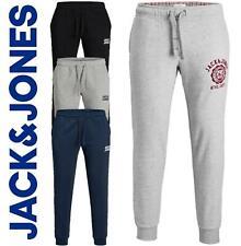 Jack & Jones Mens New Joggers Sweats  Gym Tracksuit Bottoms Running Black/Grey