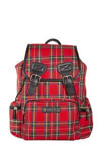 Lost Queen Alternative Punk Rock Red Stewart Tartan Plaid Backpack
