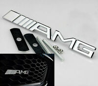 3D Auto Schriftzug Grill Frontgrill Emblem Badge Plakette für AMG Chrom wq  NEU