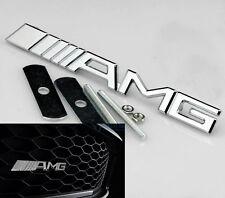 3D Auto AMG Chrom Grill Frontgrill Emblem Schriftzug Badge Plakette für NEW