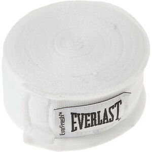 """Everlast Boxing 180"""" Mexican Handwraps - White"""