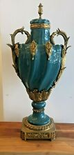 Large Bronze and porcelain vase  all hand made