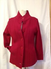 Semantiks Red Boiled Wool Jacket Sz Petite Med