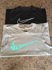 NIKE Pro Dri-Fit Sleeveless Jersey Training T-Shirts LOT of 2 Swoosh Men's Small
