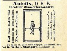 Autofix D.R.P. Zimmerturnapparat bei G.Weber Stgt. Historische Reklame von 1907