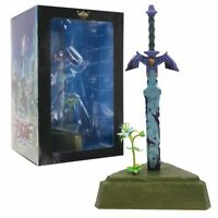 The Legend of Zelda Breath of the Wild Swing Mascot Master Sword Statue In Box