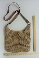 Women's Sonoma Tan Brown Satchel Tote Purse Ladies Hand Bag Style  Natural Straw