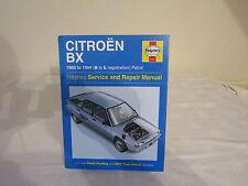 HAYNES CAR MANUAL CITROEN BX 1983 TO 1994 ( A-L REGISTRATION ) PETROL.