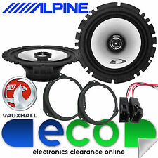 Vauxhall Corsa D 2006-2014 Alpine 440 Watts Front Door Car Speakers Upgrade Kit