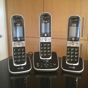 BT 8610 Trio Digital Cordless Phone Answering Machine Home Phone Black Grey 3