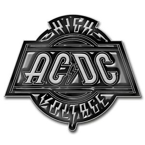 AC/DC High Voltage Metal Pin Badge (rz)