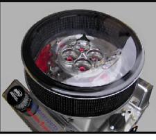 "R2C HOLLEY DOMINATOR DROP BASE 2600 CFM AIR CLEANER SYSTEM 3""Filter 18"" Diameter"