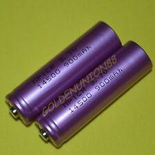 2X 3.7V Li-ion ICR14500 900mAh 14500 battery AA Digital camera LED torch flash