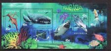 Australie 1998 Marine life vissen walvis doflijn whale dolfin blok postfris/mnh