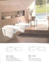 brand new one piece wall-mount toilet white ceramic